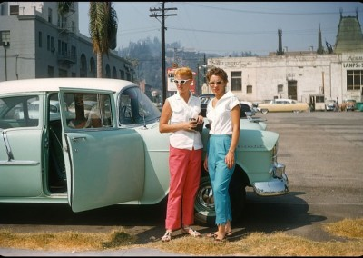 Classic shot of ladies in 1950s Hollywood.