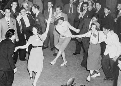 Dance floor scene (1940s).