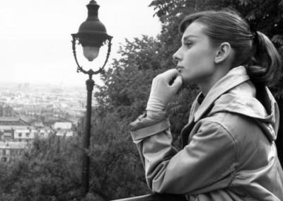 Audrey Hepburn in Paris (1956).