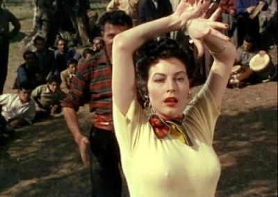 Actress Ava Gardner.