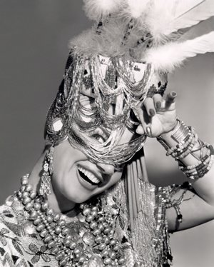 Dancer, actress and film star Carmen Miranda.