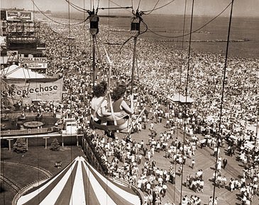 Scene from Coney Island in the 1940s.