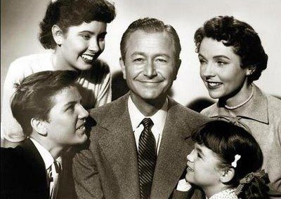 Stars of 1950s TV series Father Knows Best.