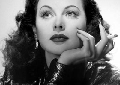 Silver screen actress Hedy Lamarr.