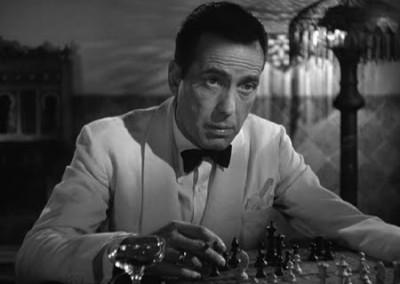 Humphrey Bogart in Casablanca (1942).