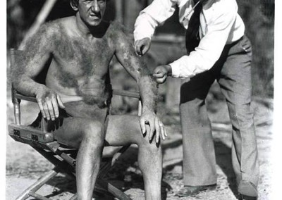 Jimmy Durante on the set of Hollywood Party (1934).