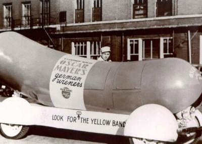 The Oscar Mayer Wienermobile circa 1936.