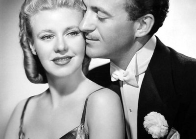 Classic shot of David Niven and Ginger Rogers
