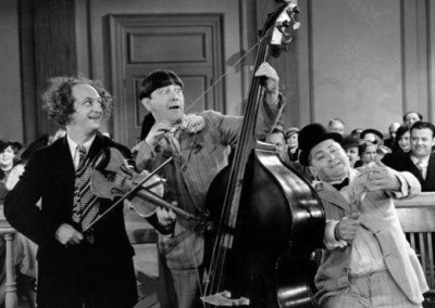 The Three Stooges in the 1936 short Disorder in the Court.