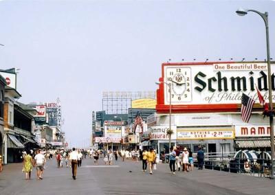 Atlantic City Boardwalk in the 1960s