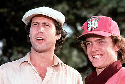 Chevy Chase and Michael O'Keefe