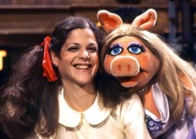 Gilda Radner and Miss Piggy