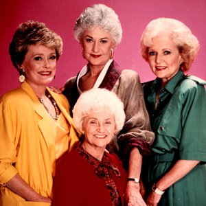Cast shot from the 1980s sitcom The Golden Girls