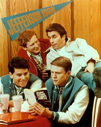 Scene from the TV show Happy Days