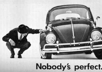 1960s ad for the VW Beetle