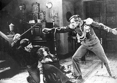 Scene from the film Mark of Zorro (1920)