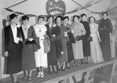 Depression-era fashions.